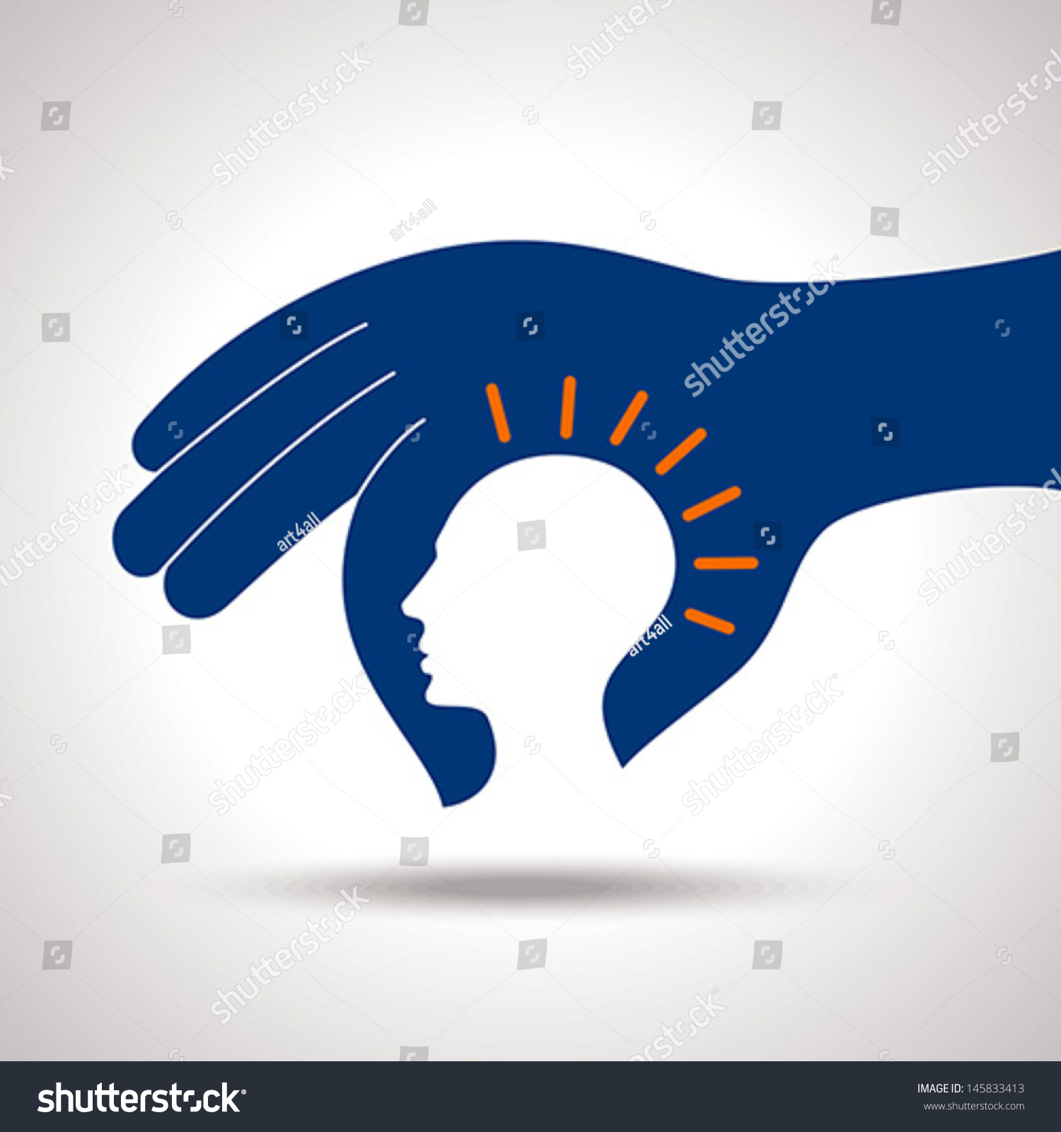 Human head thinking a new idea stock vector illustration for New idea images