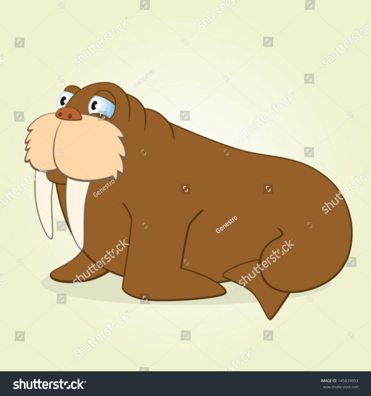 vector illustration cartoon walrus stock vector 145839893