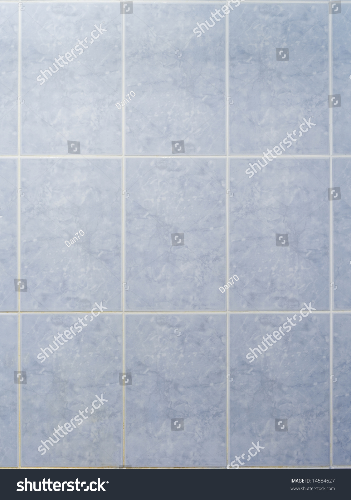 Bathroom Wall Blue Ceramic Tiles Stock Photo (Royalty Free) 14584627 ...