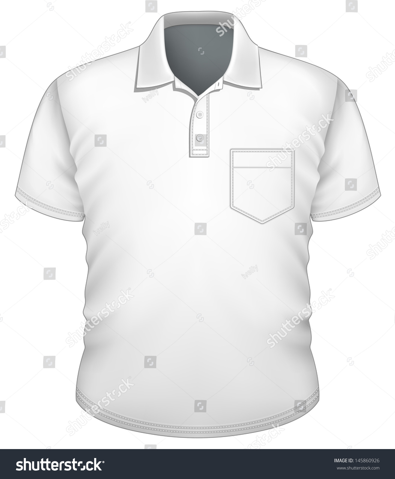 Vector Mens Poloshirt Design Template Front Stock Vector Royalty