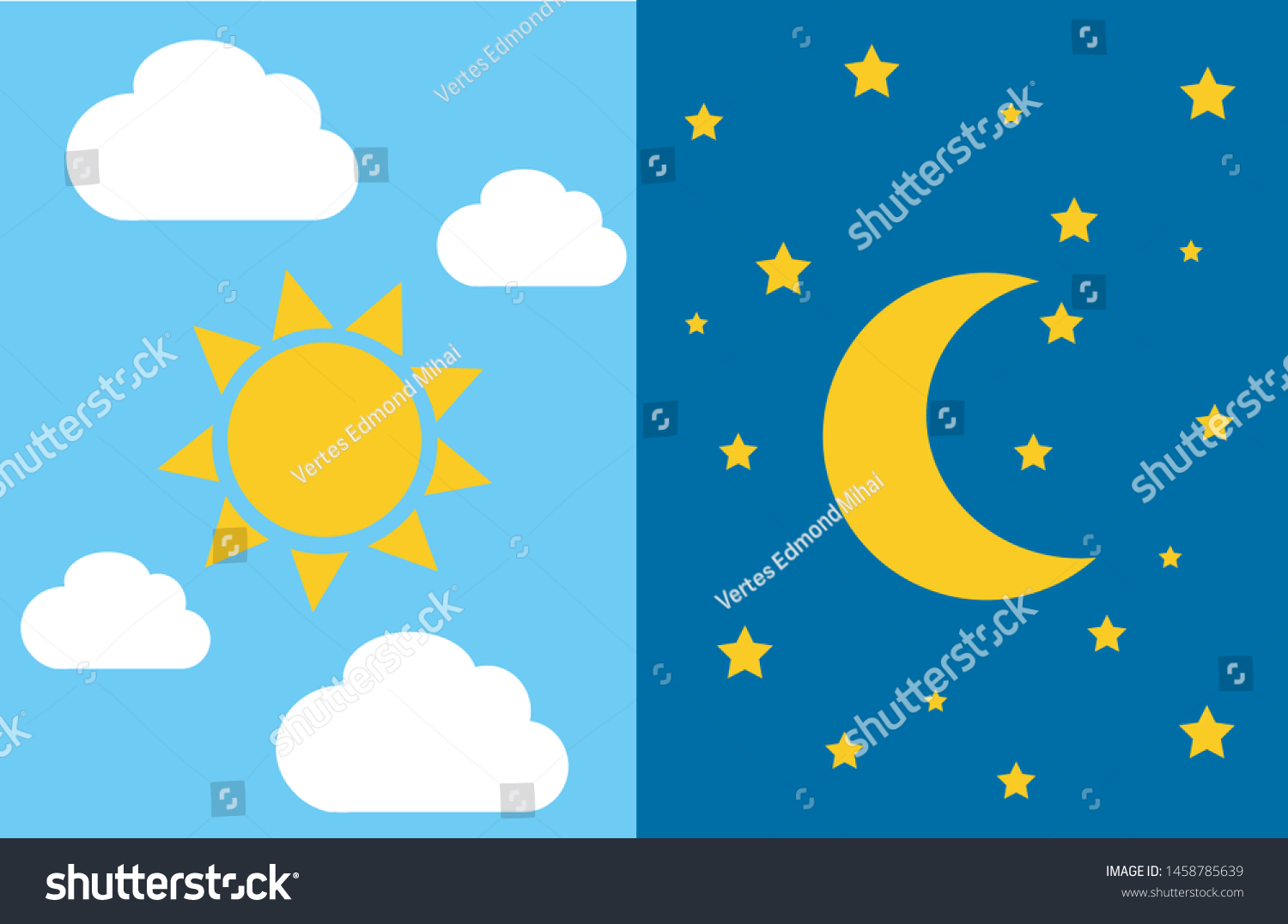 Night and Day Clip Art