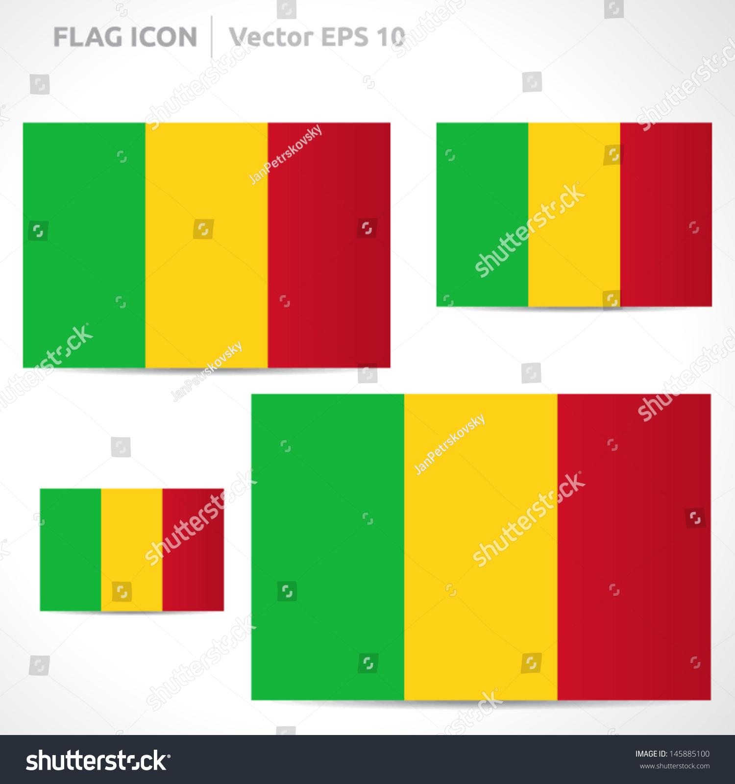Mali Flag Template Vector Symbol Design Stock Vector 145885100 ...