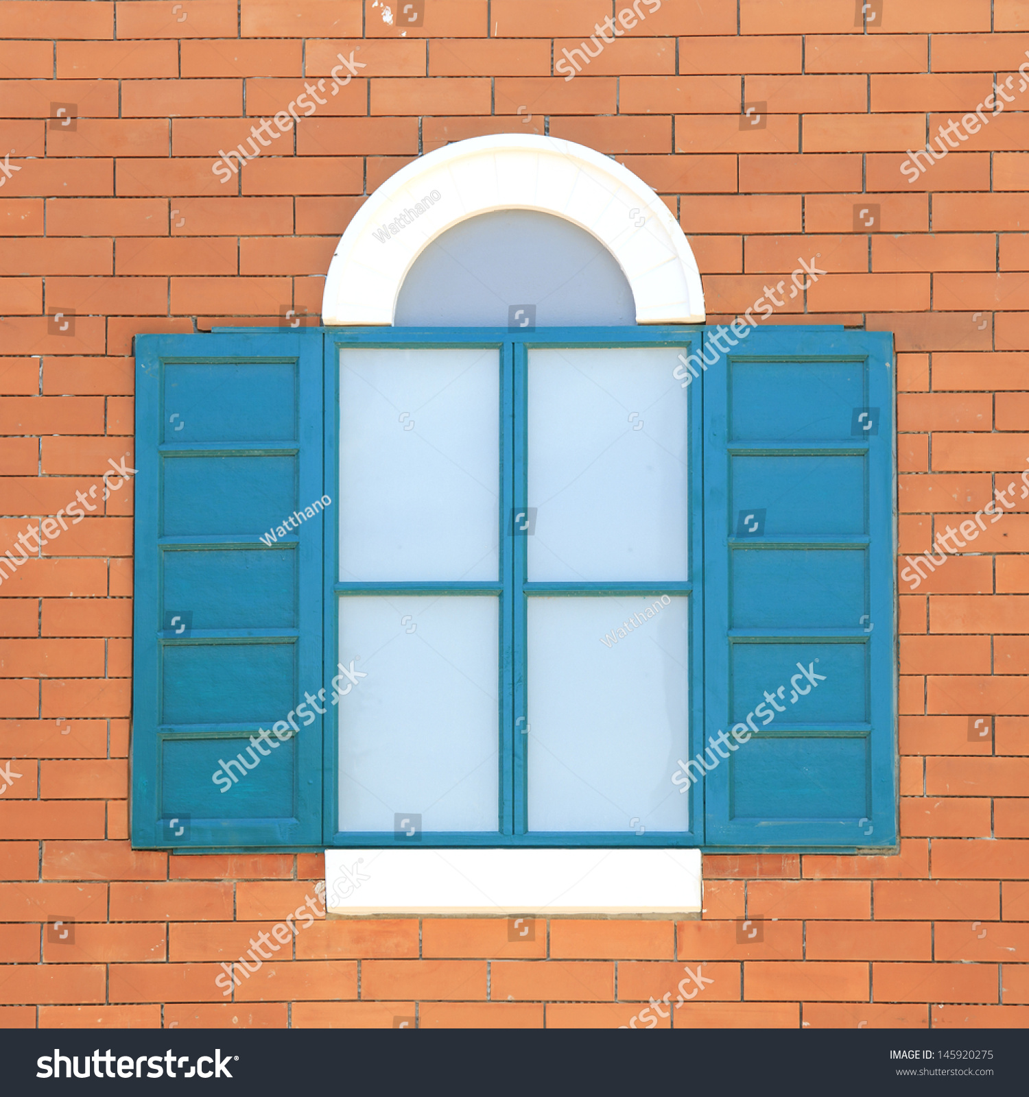 Vintage Windows On The Brick Wall