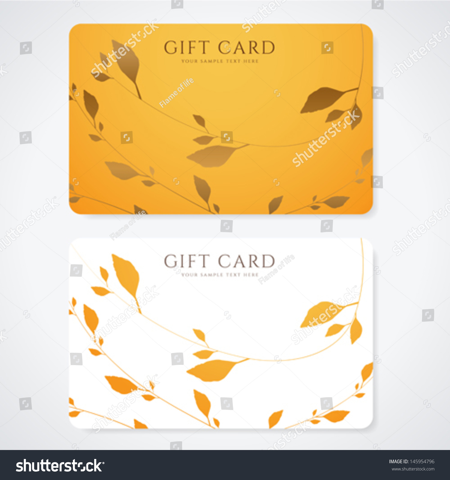 Gift Card Discount Card Business Card With Floral