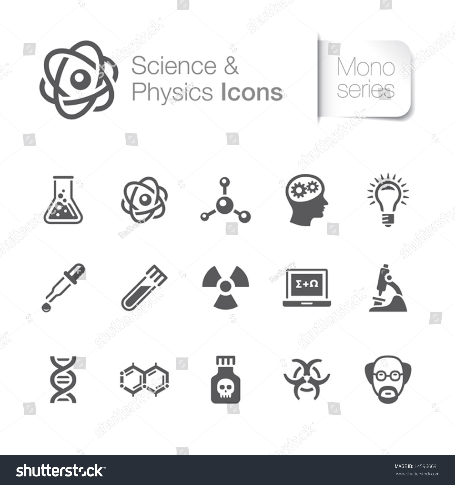 Science Physics From: Science & Physics Related Icons Stock Vector Illustration
