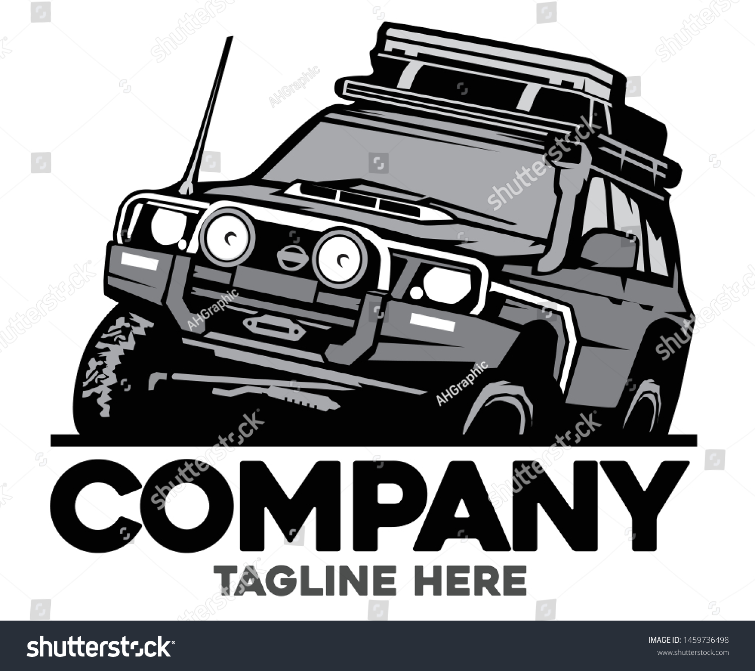 4x4 Off Road Logo Vector Template Stock Vector Royalty Free 1459736498