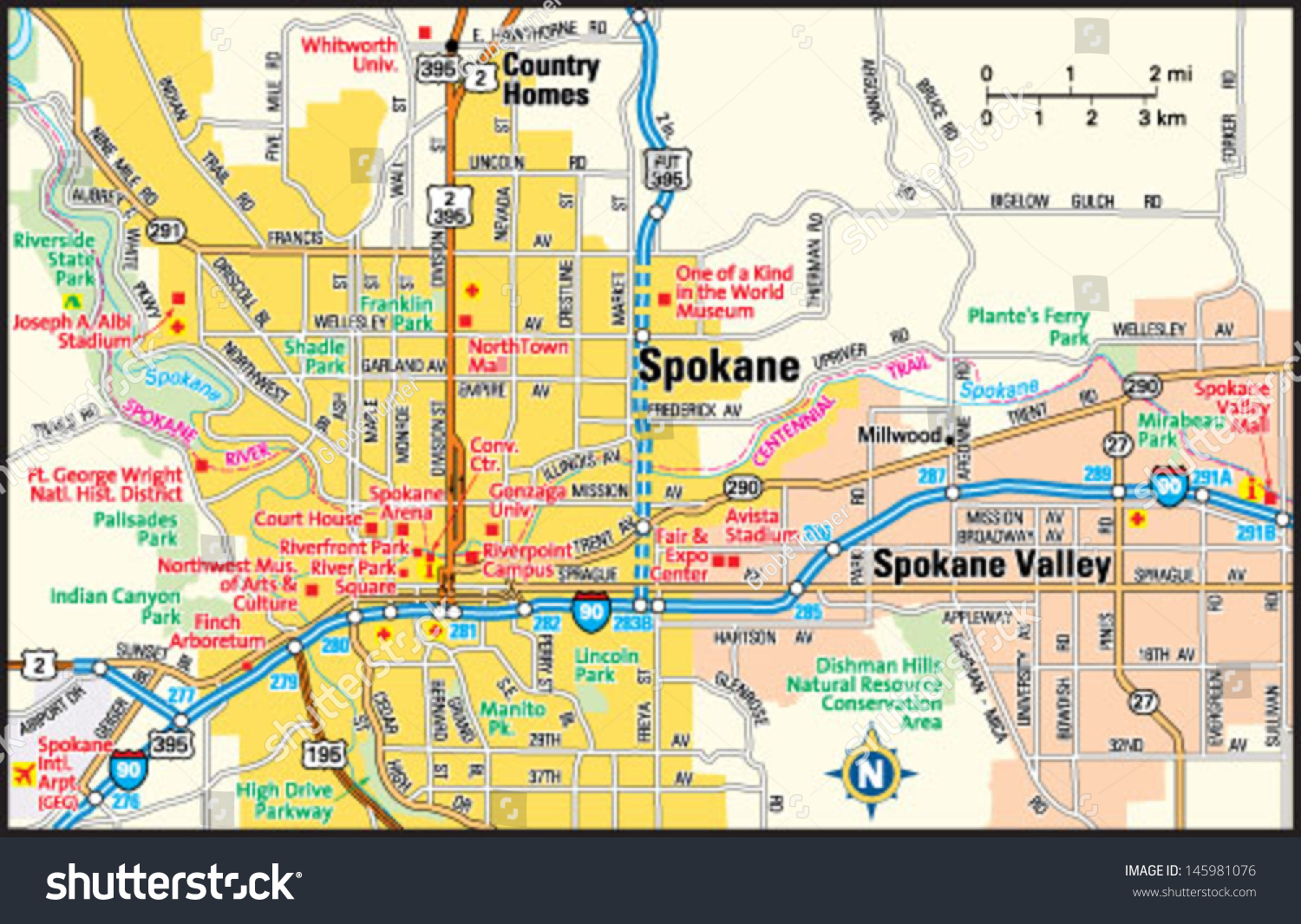 Spokane Washington Wa Profile Population Maps Real Autos