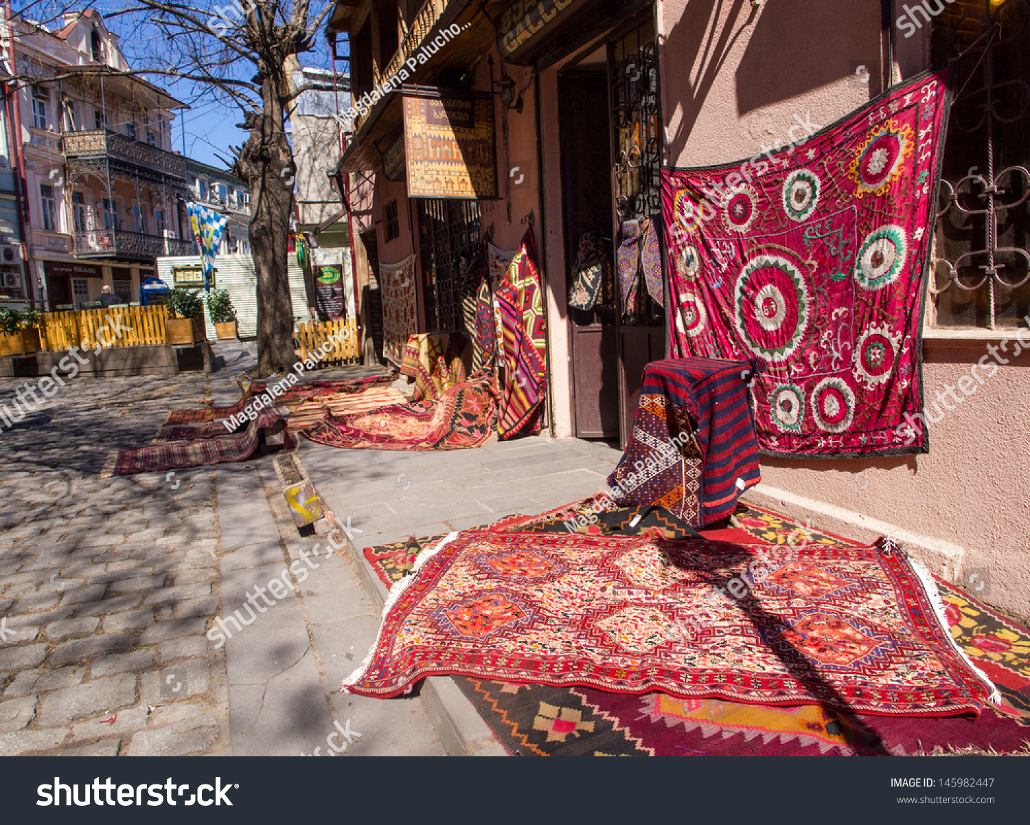 TBILISI, GEORGIA   MARCH 19: Rug Store In The Downtown Of Tbilisi On March