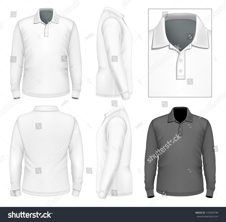 Photorealistic Vector Illustration Mens Long Sleeve Stock