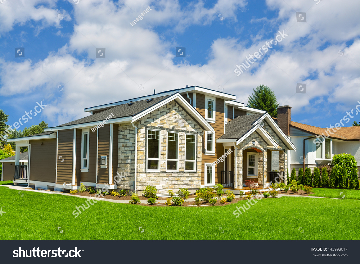 Brand new house big luxury house with nicely trimmed and for New house big