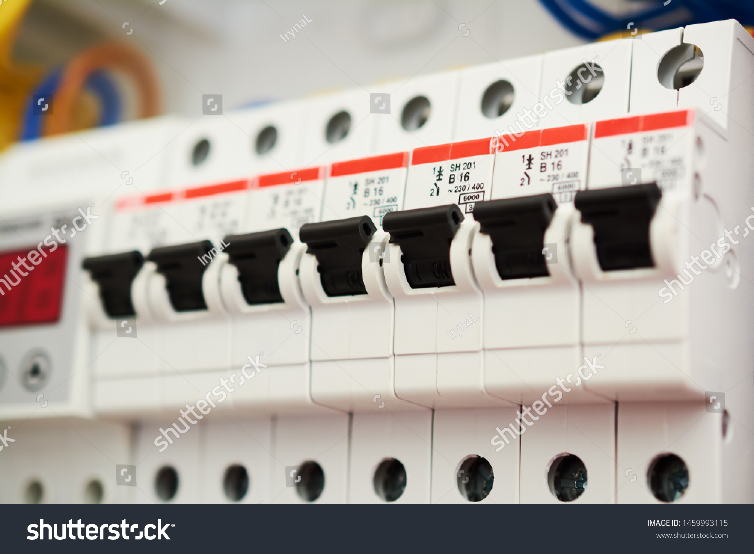 power fuse box fuse box power supply circuit breakers stock photo  edit now power fuse box home fuse box power supply circuit breakers
