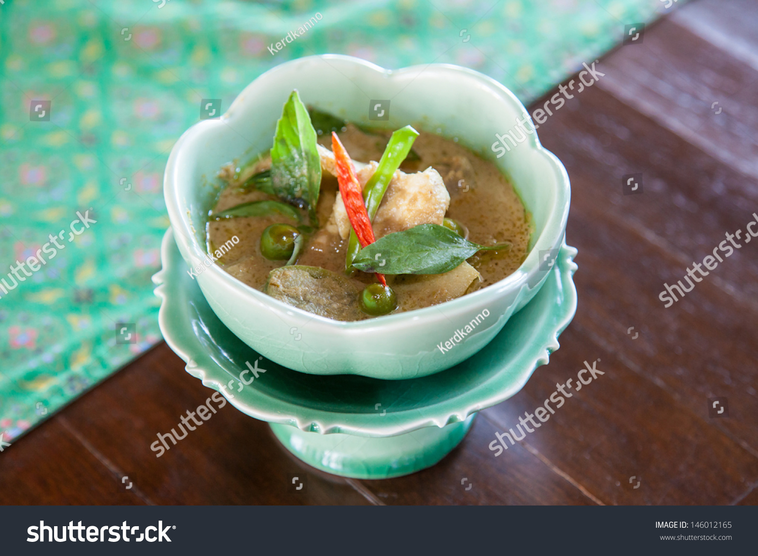 Authentic thai cuisine with decoration and flavour stock for Authentic thai cuisine
