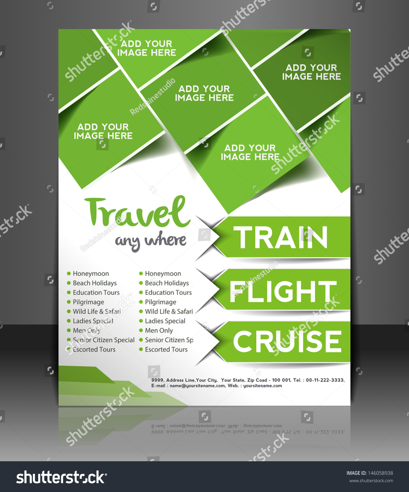 Vector Brochure Flyer Magazine Folder T Shirt Cover: Vector Travel Brochure Flyer Magazine Cover Stock Vector