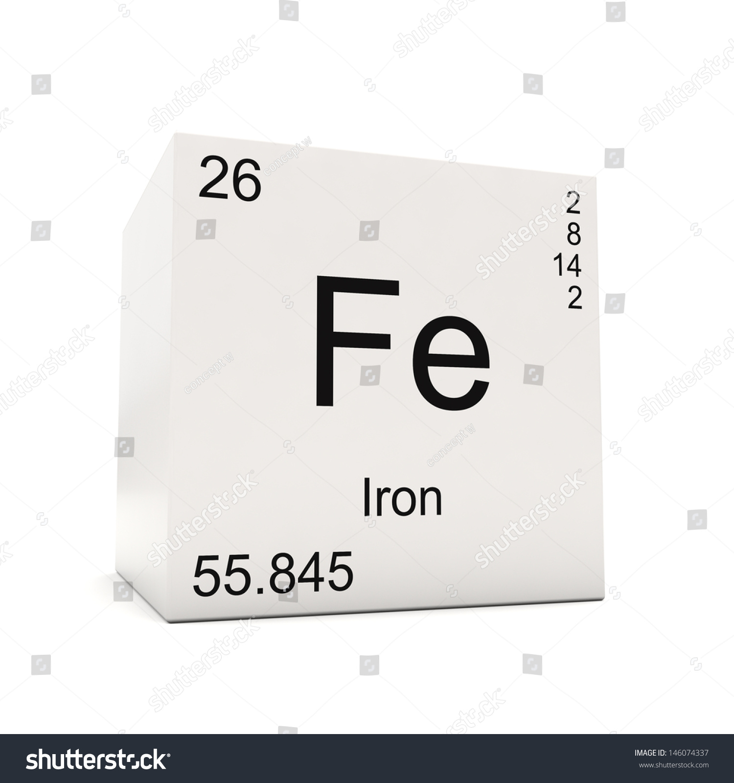 Cube iron element periodic table isolated stock illustration cube of iron element of the periodic table isolated on white background gamestrikefo Choice Image