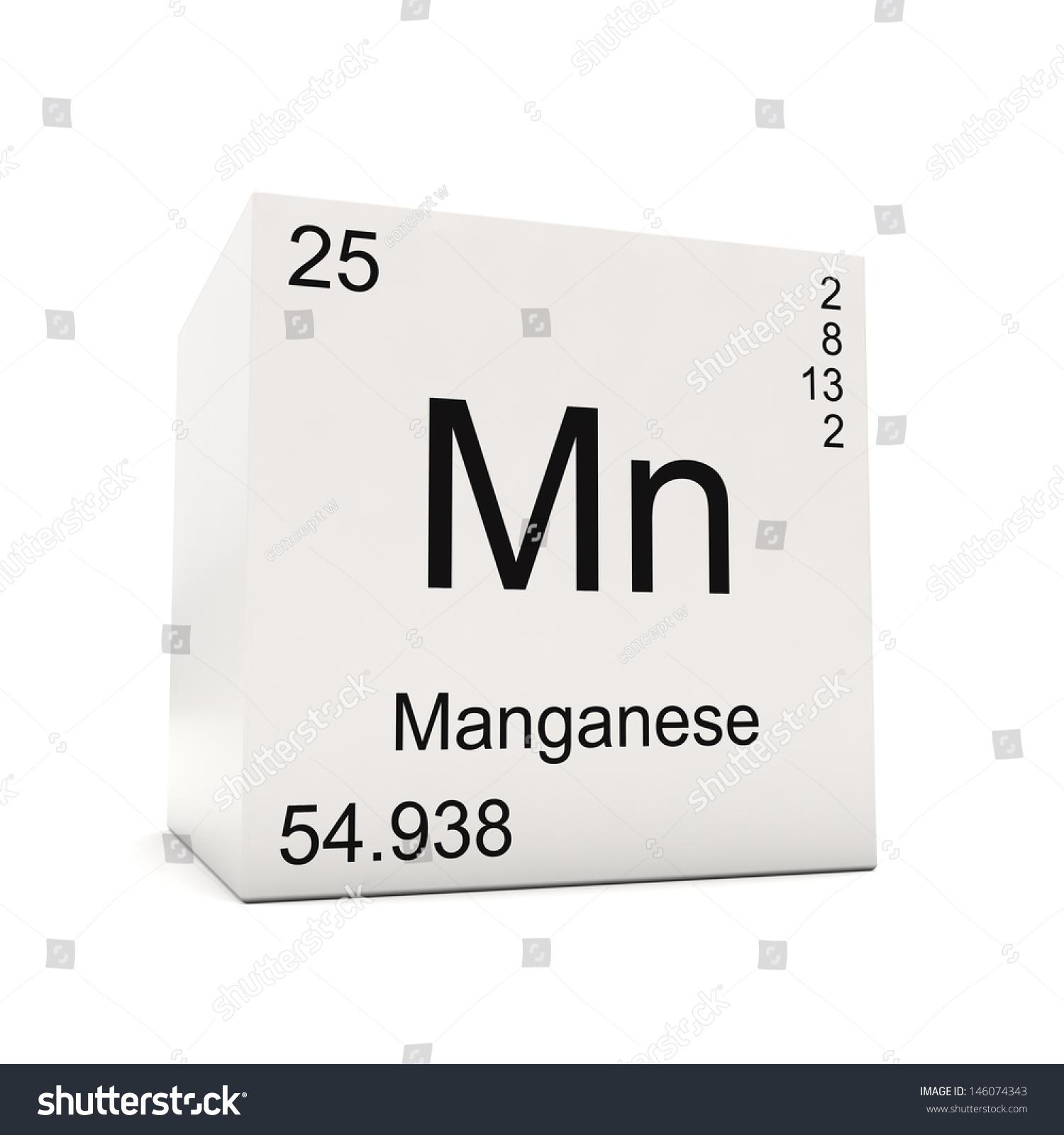 Cube manganese element periodic table isolated stock illustration cube of manganese element of the periodic table isolated on white background gamestrikefo Images
