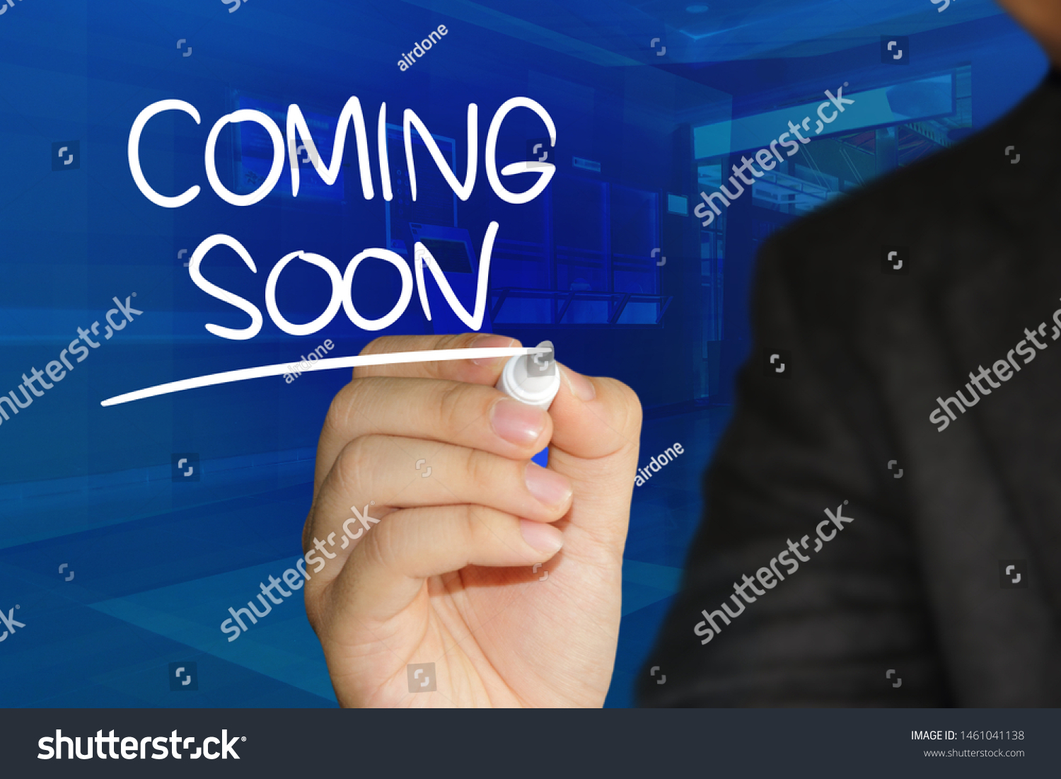 Coming Soon Motivational Inspirational Business Marketing Stock Photo Edit Now 1461041138