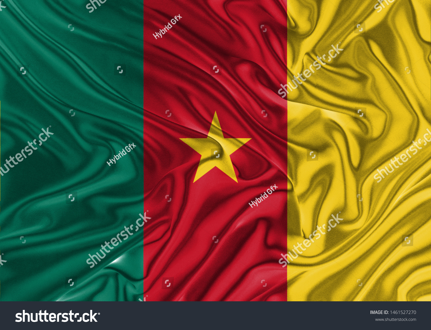 Senegal Flag of Silk, Flag of Senegal fabric texture background. #1461527270