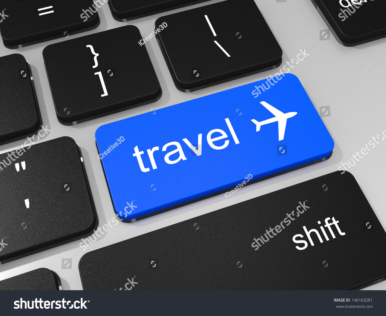 Travel Key Airplane Symbol On Keyboard Stock Illustration 146163281