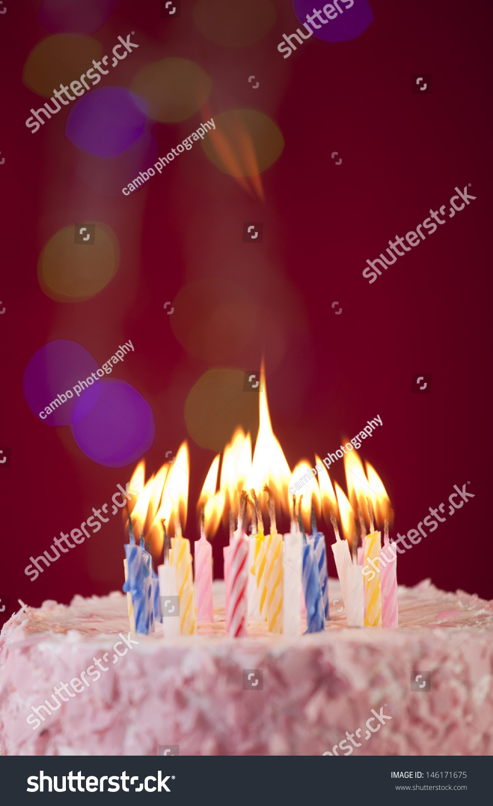 Incredible Happy Birthday Cake Shot On Red Stock Photo Edit Now 146171675 Funny Birthday Cards Online Fluifree Goldxyz