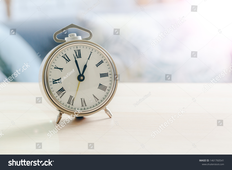 Morning Sun Alarm Clock On Beautiful Stock Photo Edit Now 1461760541