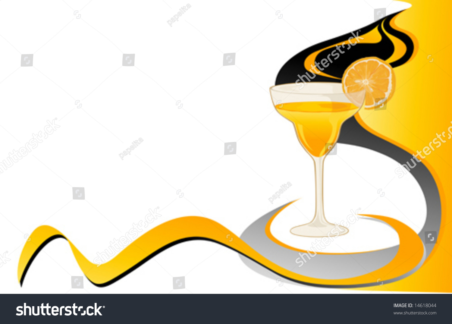 drink abstract card orange stock vector 14618044 - shutterstock