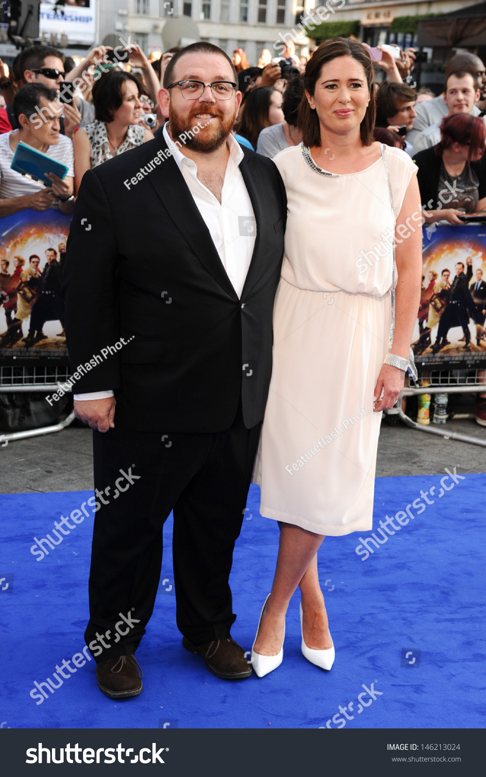Nick Frost Wife Christina Frost Arrives Stock PhotoNick Frost Wife