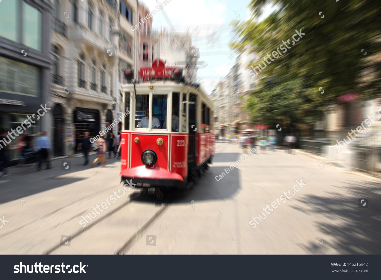Beyoglu Turkey  City new picture : Beyoglu Tram, Istiklal Avenue, Istanbul Turkey Stock Photo 146216942 ...