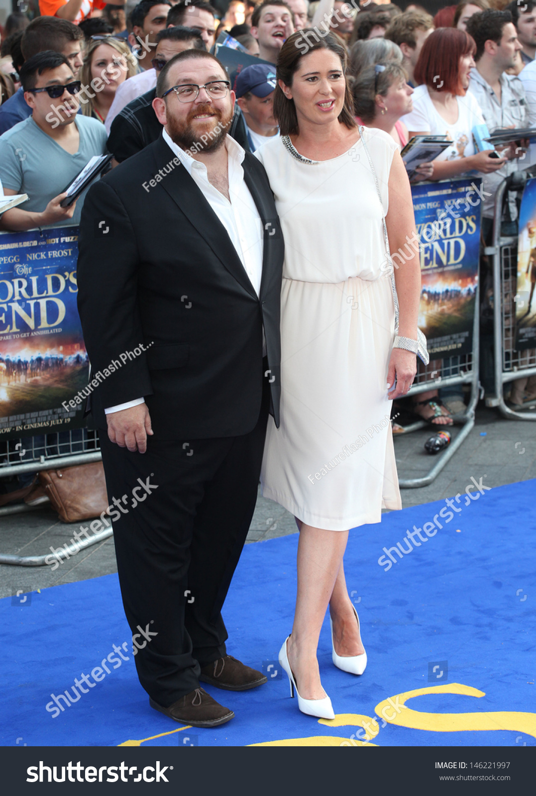 Nick Frost And Wife Christina Arriving For The WorldS EndNick Frost Wife