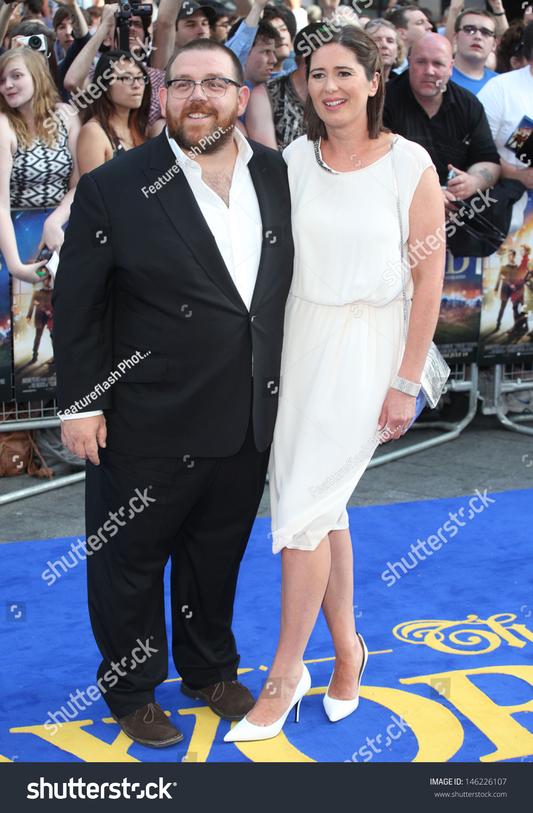 Nick Frost Wife Christina Arriving Worlds Stock PhotoNick Frost Wife