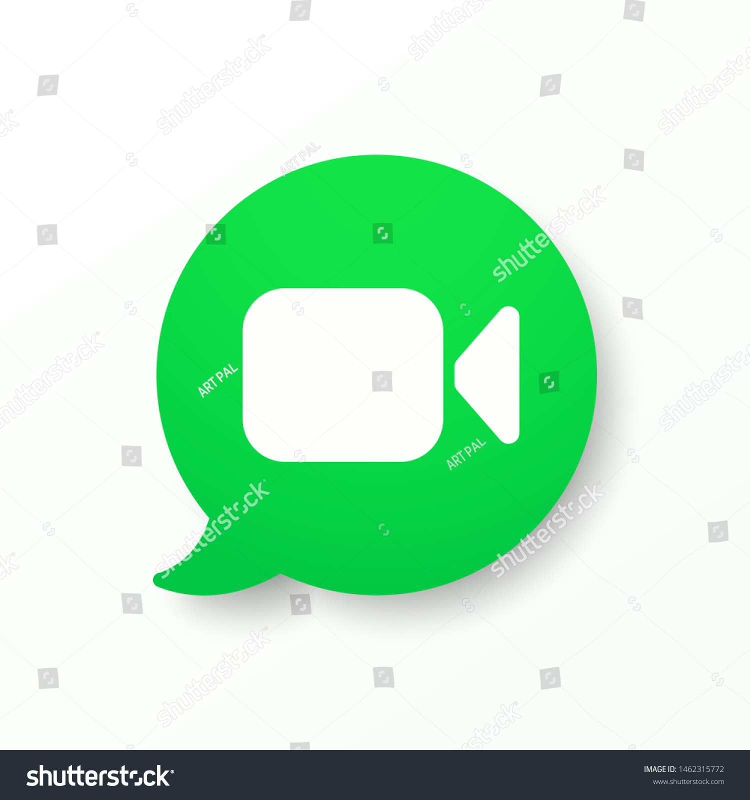 Mockup Green Button Video Call Video Stock Vector Royalty Free