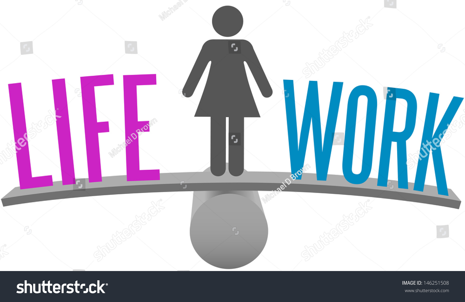 Woman weighs life work balance decision stock illustration 146251508 woman weighs life and work balance decision on choice scale symbol biocorpaavc Images