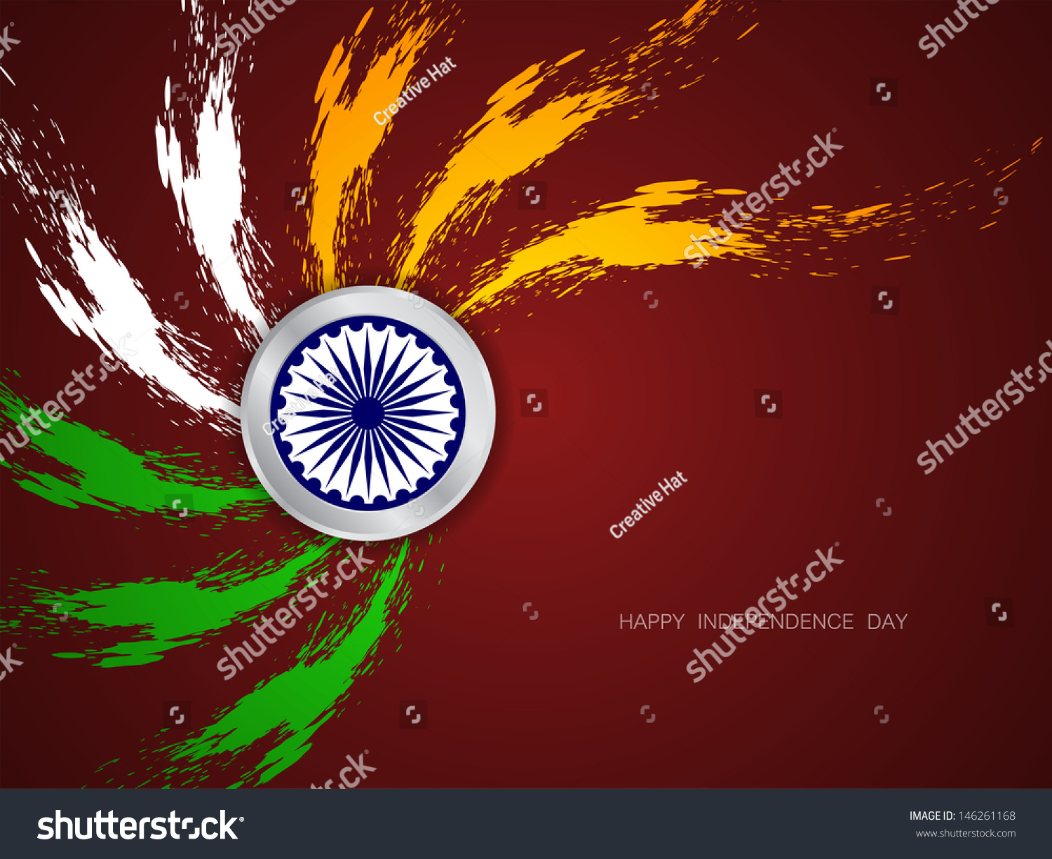 Indian Flag Theme: Beautiful Grungy Indian Flag Theme Design On Brown Color