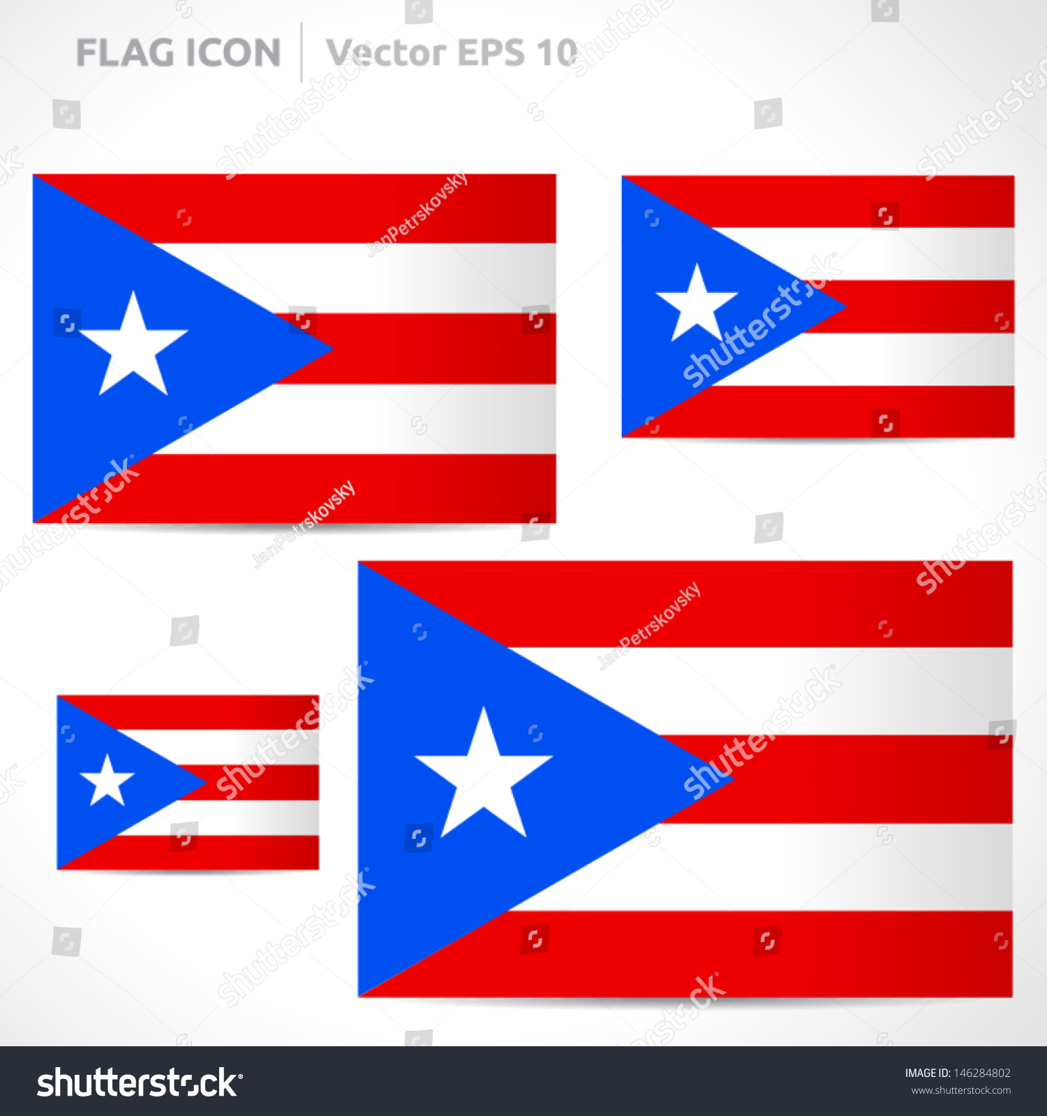 Puerto rico flag template vector symbol stock vector 146284802 puerto rico flag template vector symbol design color red blue and white icon biocorpaavc Choice Image