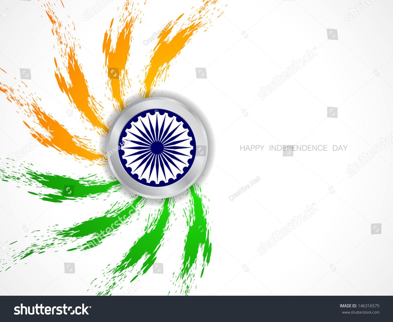 Indian Flag Theme: Elegant Grungy Indian Flag Theme Background Stock Vector