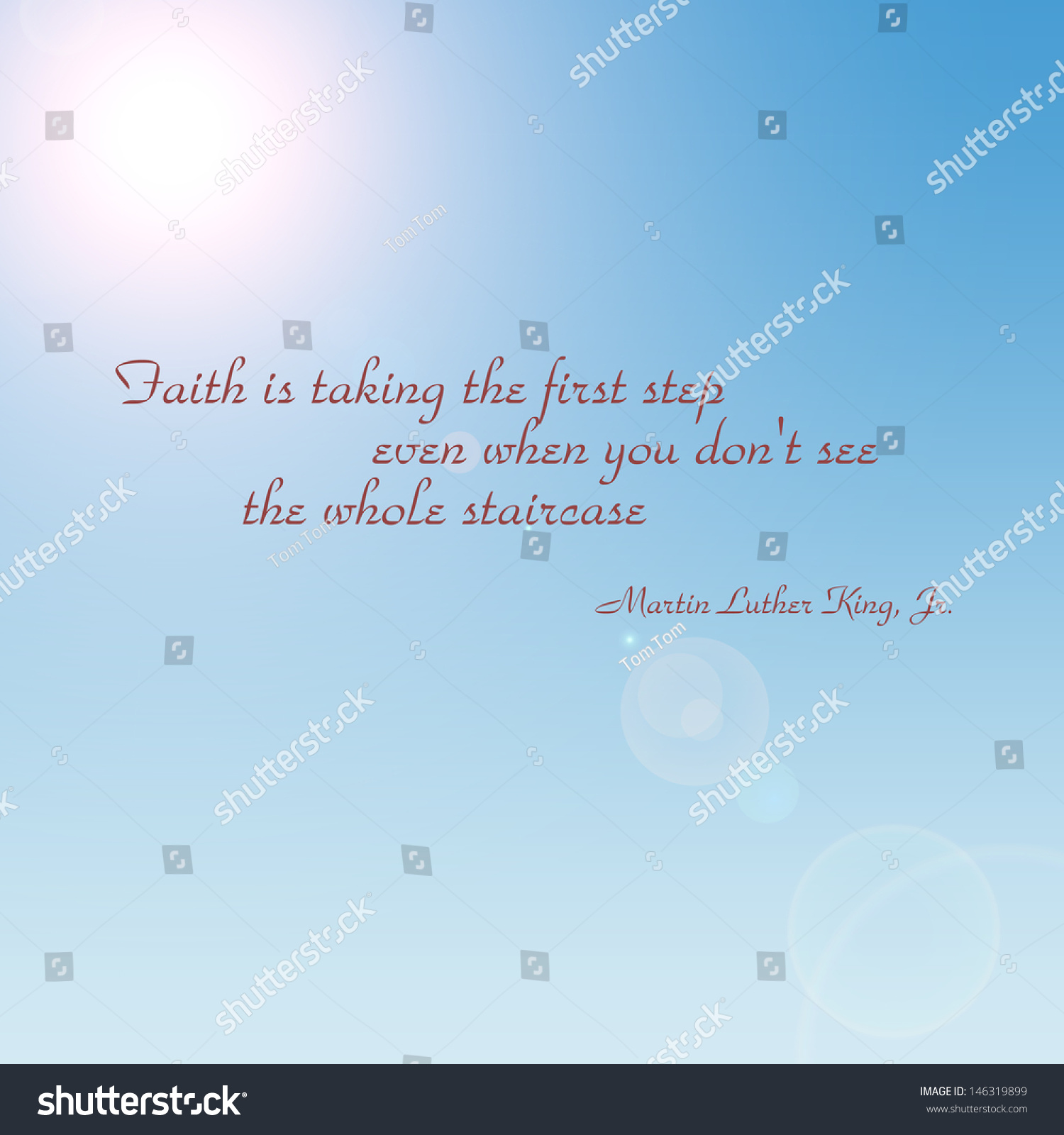 Inspirational Quotes About Faith And Love Inspirational Quotemartin Luther King Stock Illustration