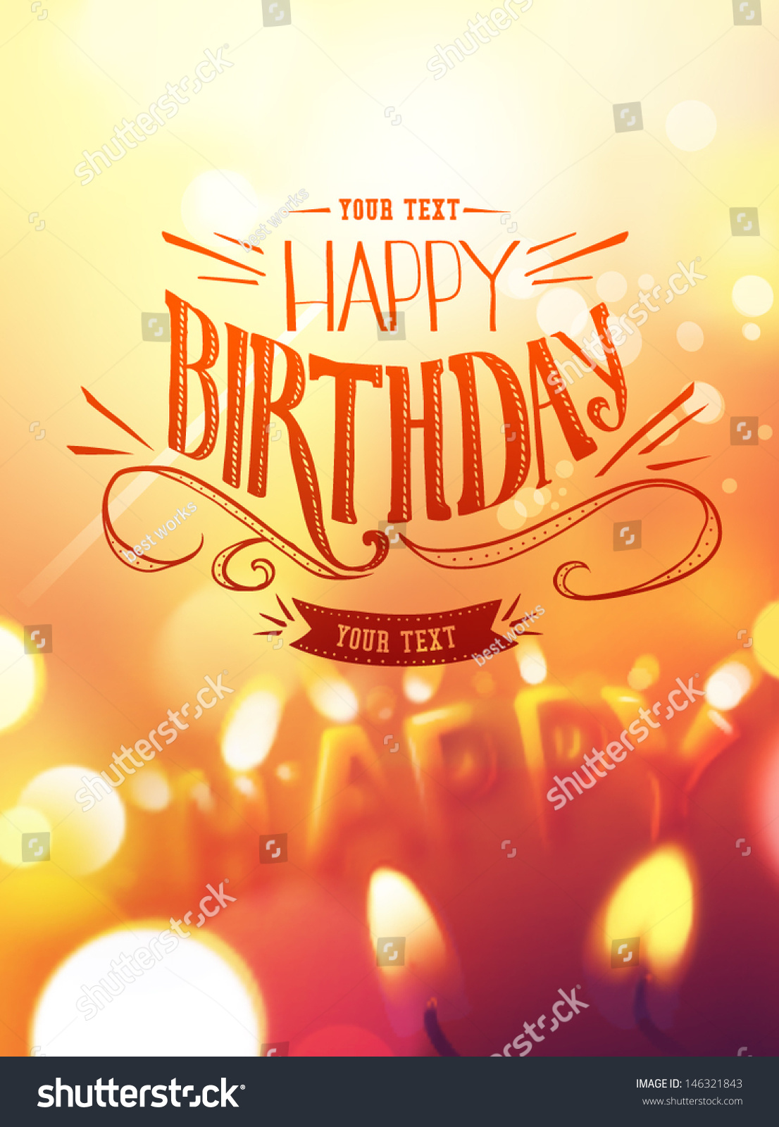 Vector set of birthday cards design elements free vector in adobe – Birthday Cards Design