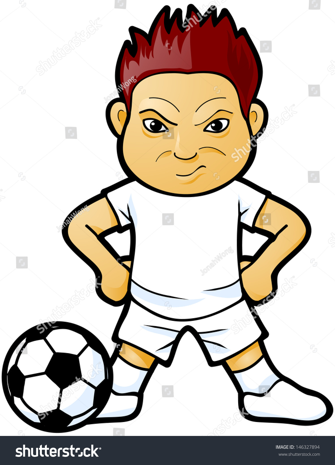 Soccer Player Cartoon Stock Vector 146327894