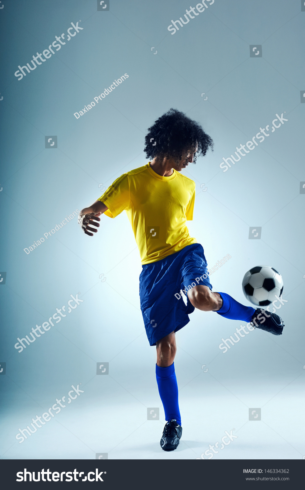 sport skill. soccer sport skill player practise control with ball