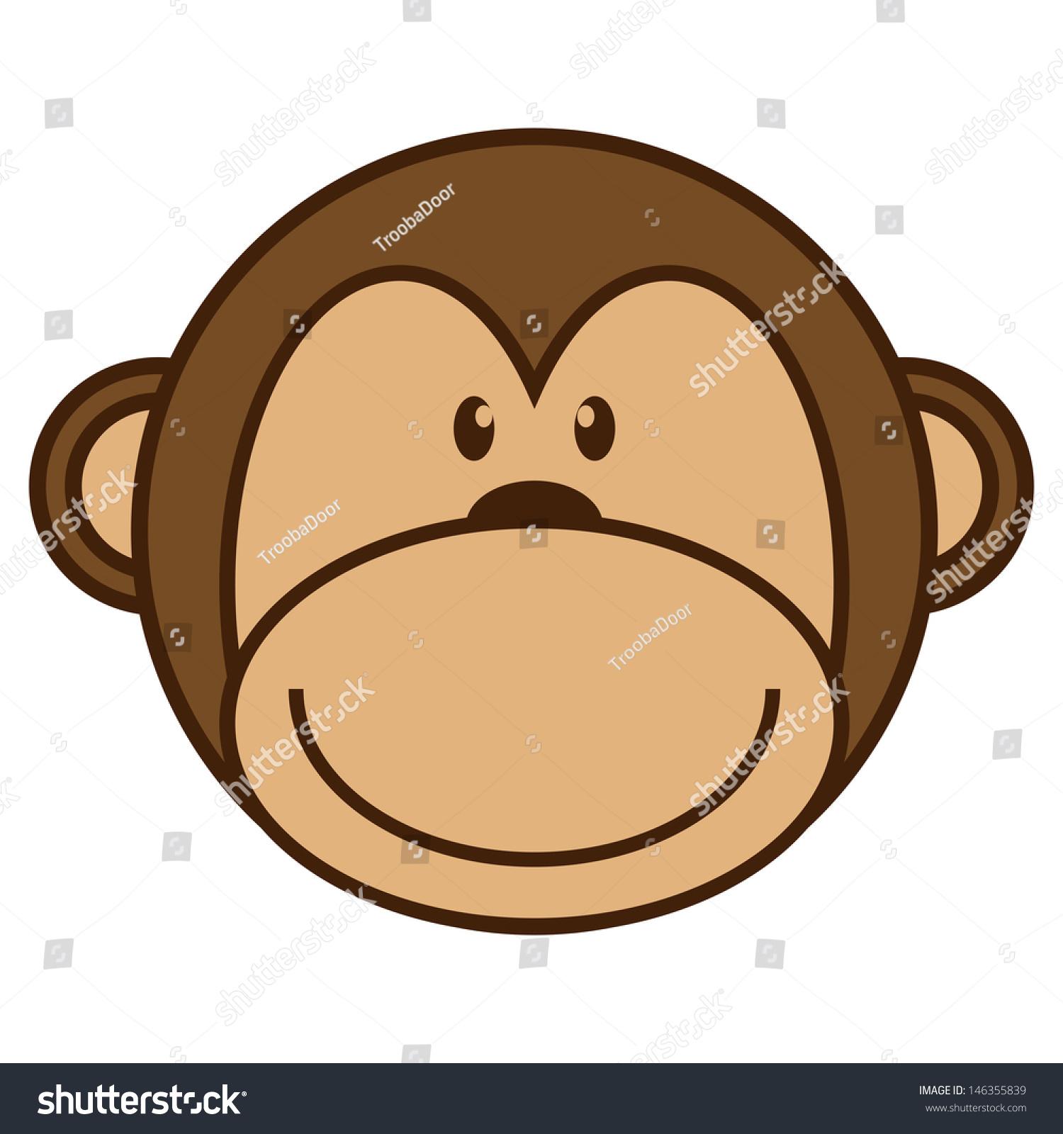 cartoon monkey stock photo photo vector illustration 146355839 rh shutterstock com cartoon monkey faces clip art cartoon monkey face rom game