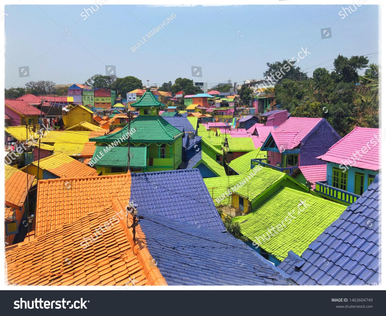 Rainbow Village Malang City Indonesia Stock Photo Edit Now 1463604749