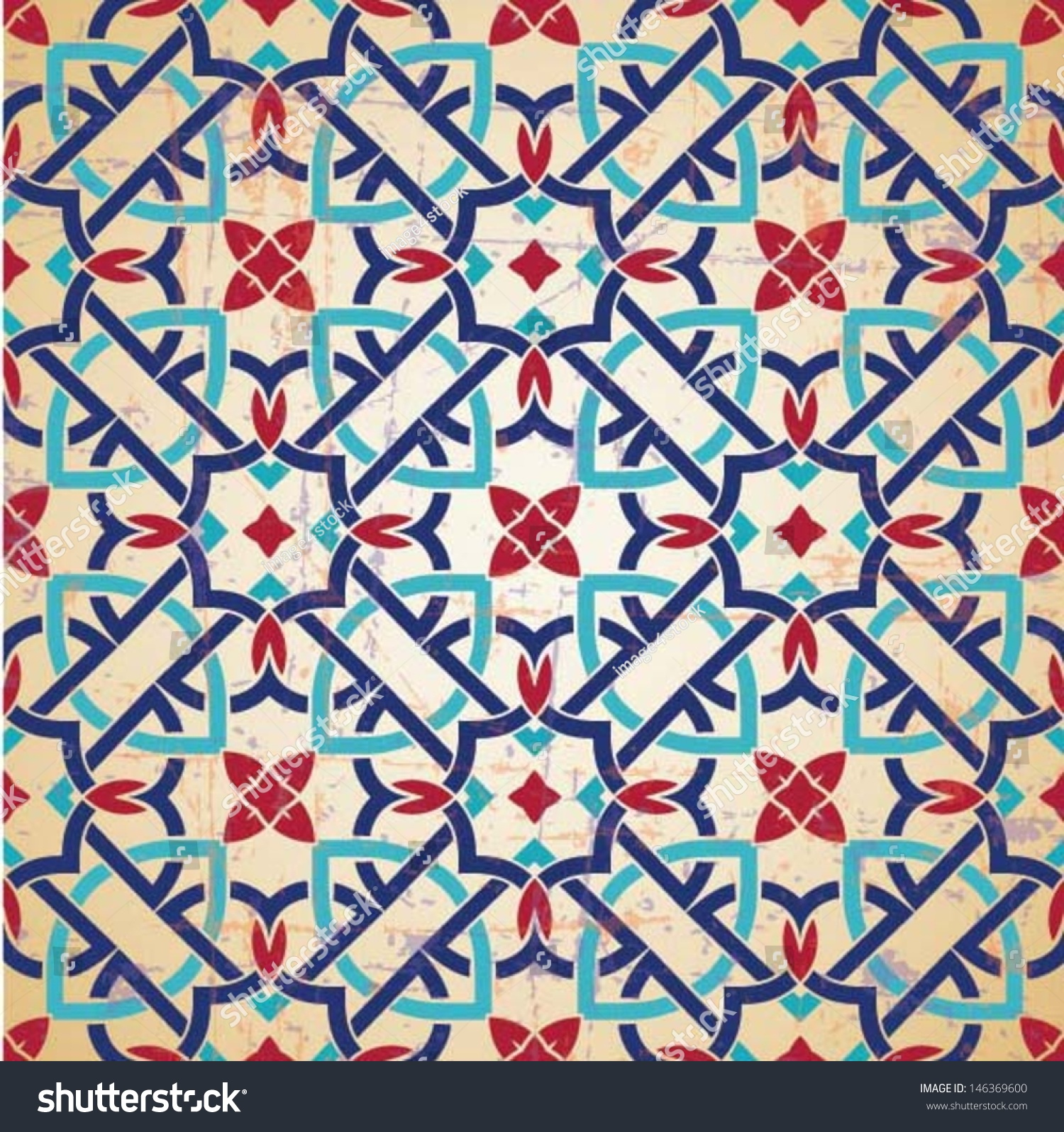 ... ornament, Moroccan seamless pattern, tile design, vector illustration