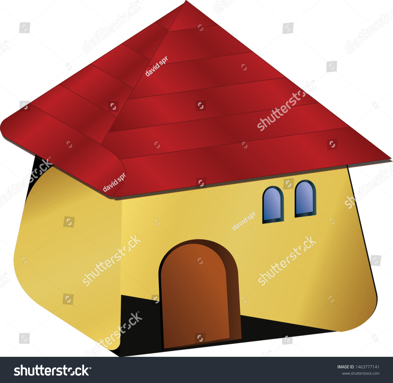 stock-vector-a-house-with-a-red-roof-iso