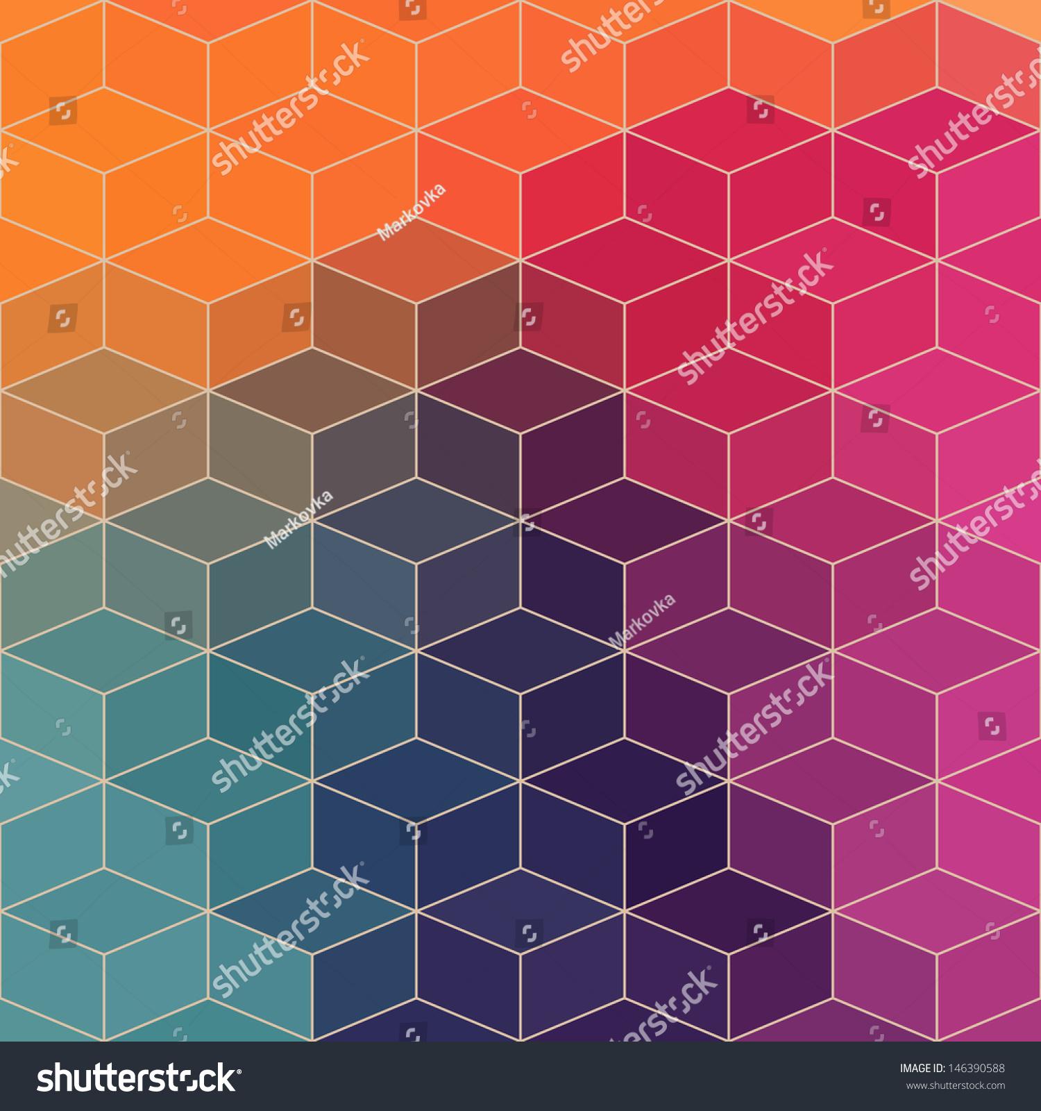 Vector Geometric Pattern Geometric Shapes Rhombus Stock ...