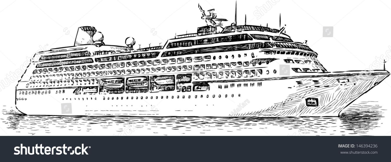 cruise ship stock vector 146394236 shutterstock