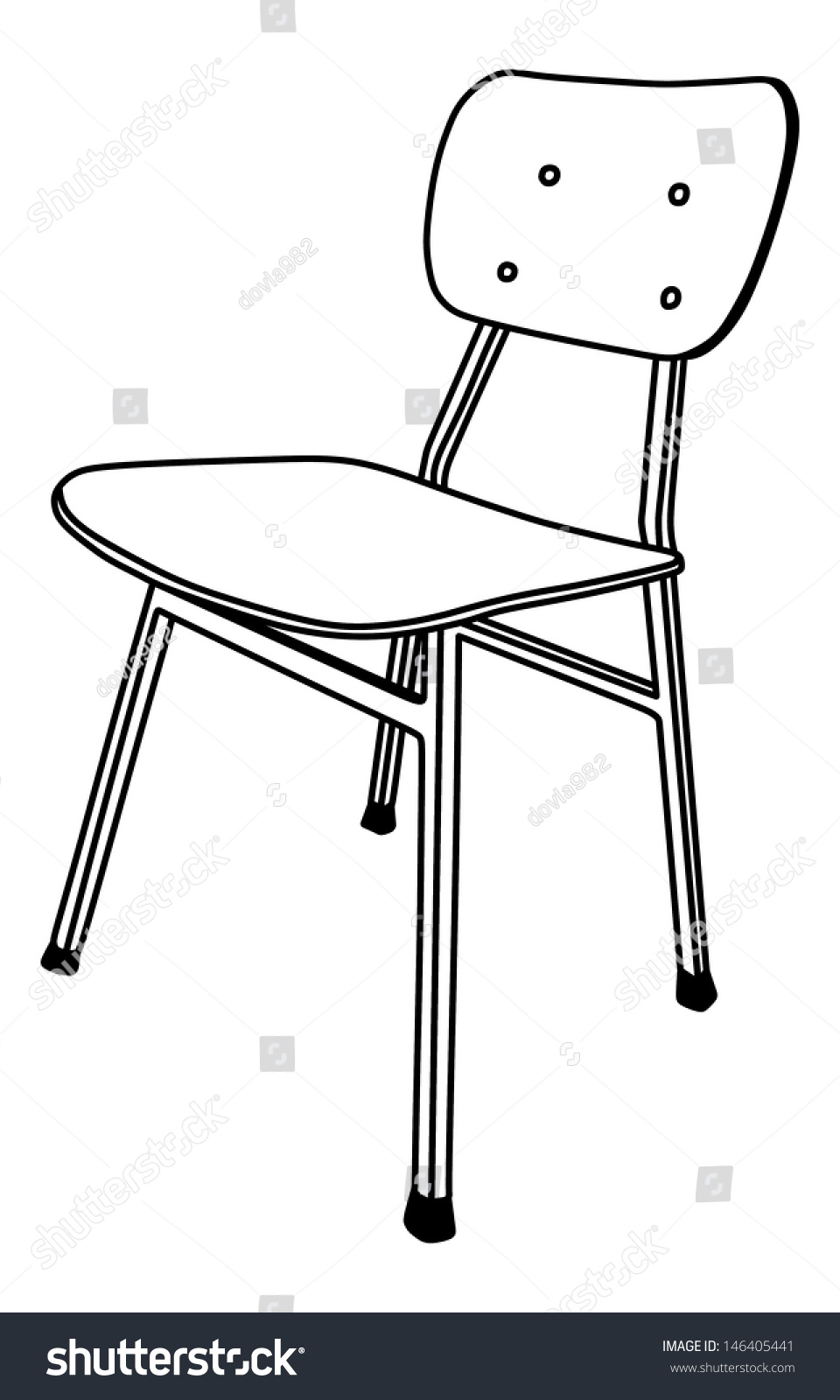 School Chair Drawing Used In The Classroom With Stand Vector Illustration Isolated On To Design Inspiration