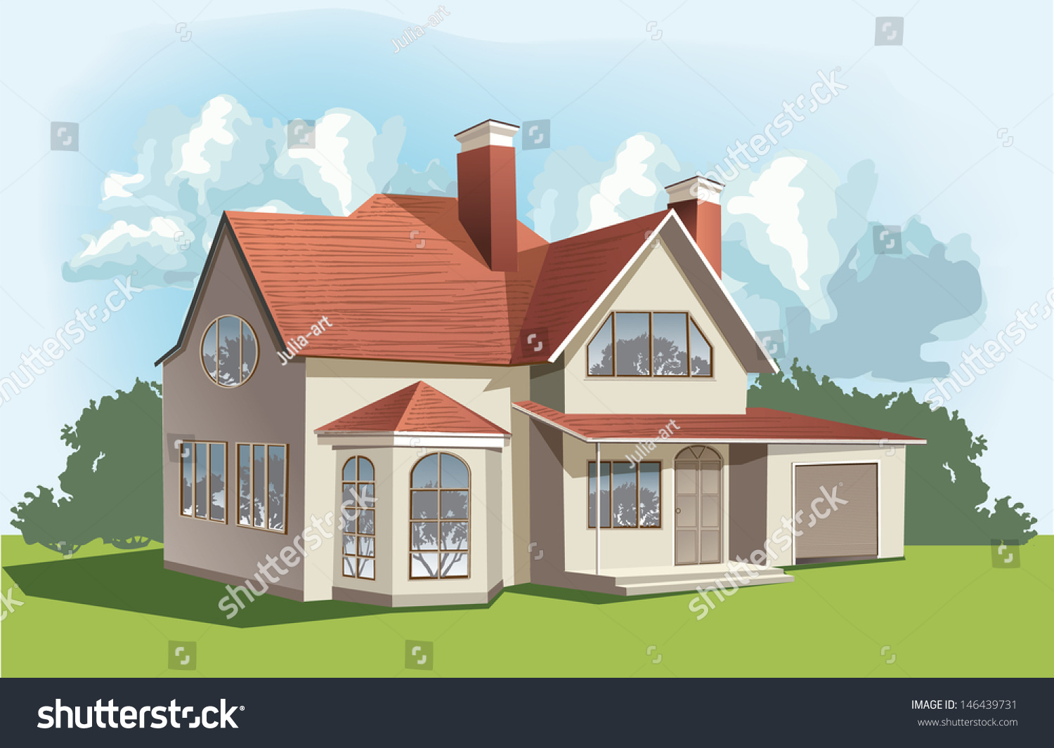 Vector classic american house stock vector 146439731 for American classic house mouse
