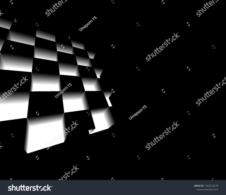 Black White Abstract Background Desktop Wallpaper Stock Illustration 1464516218