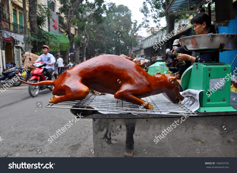 Selling Food In Street Vietnam