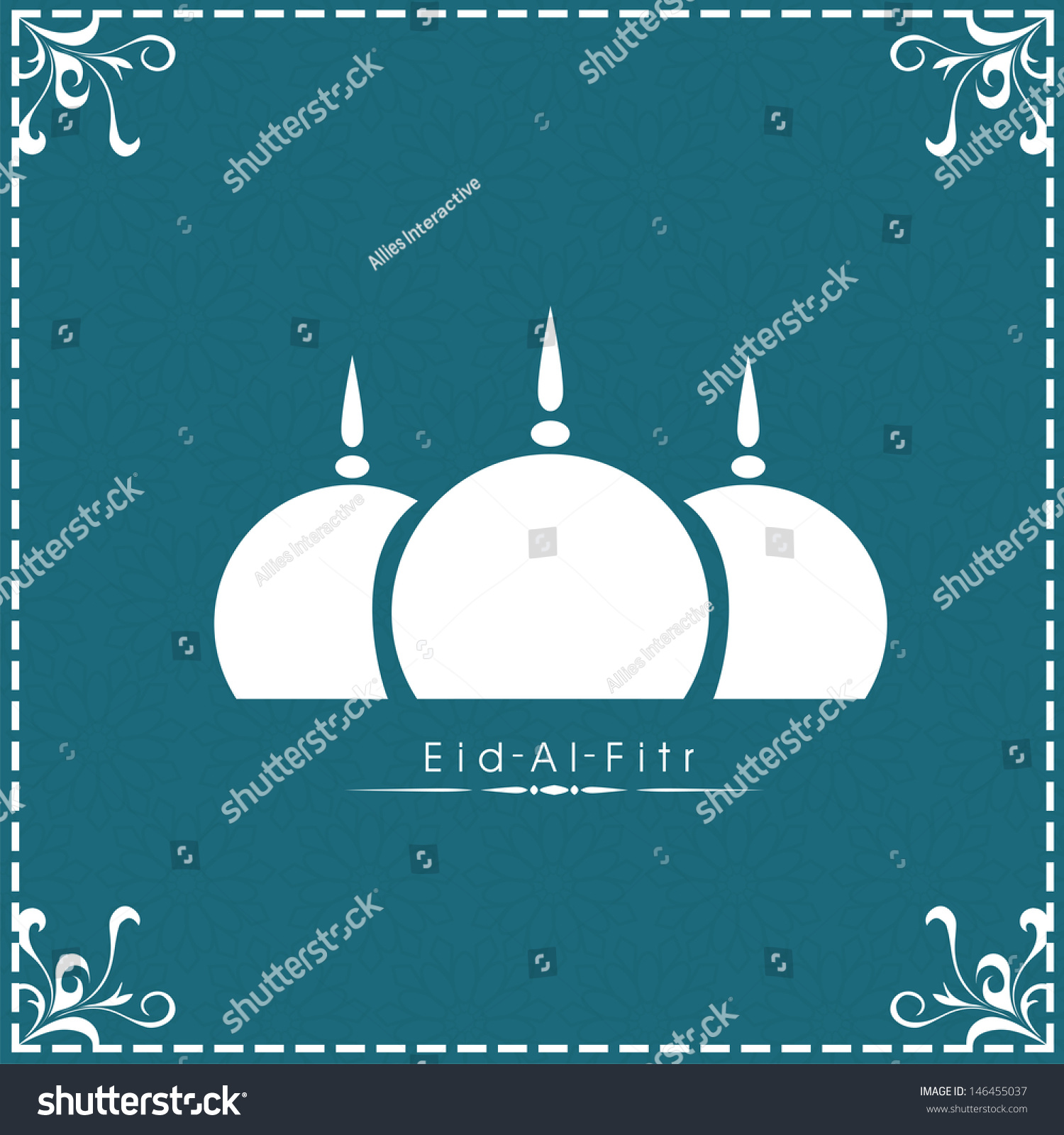 Top Eid Mubarak Eid Al-Fitr Decorations - stock-vector-muslim-community-festival-eid-al-fitr-eid-mubarak-concept-with-mosque-design-in-blue-floral-146455037  Perfect Image Reference_384359 .jpg