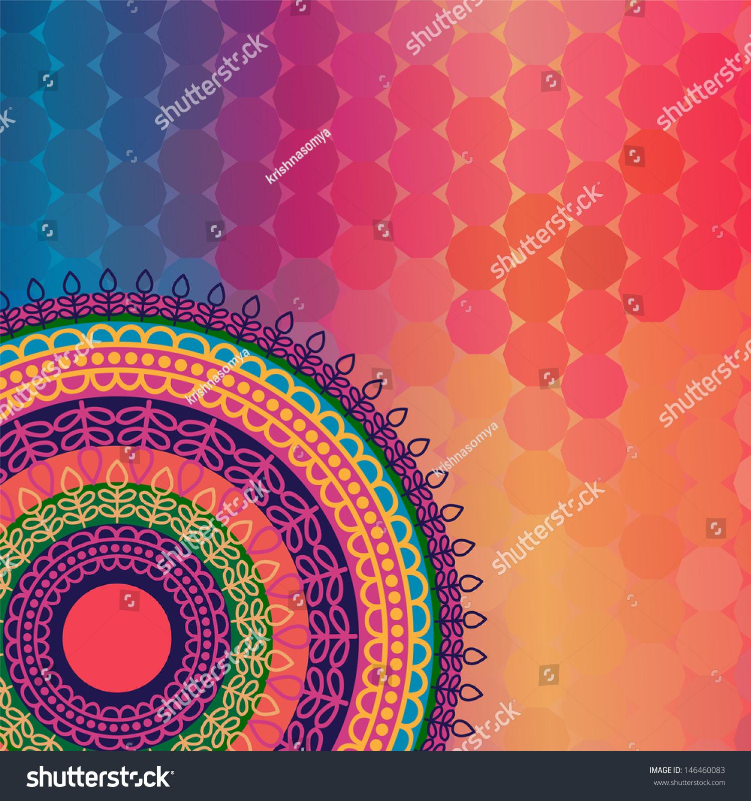 royaltyfree indian henna mandala background design